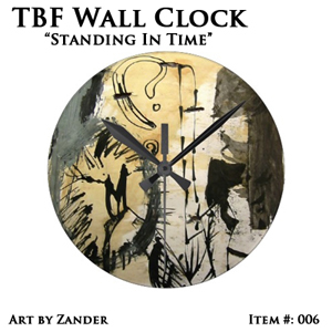 TBF 'Standing in Time' Wall Clock