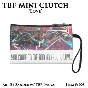 TBF 'Love' Limited Edition Mini Clutch Bag