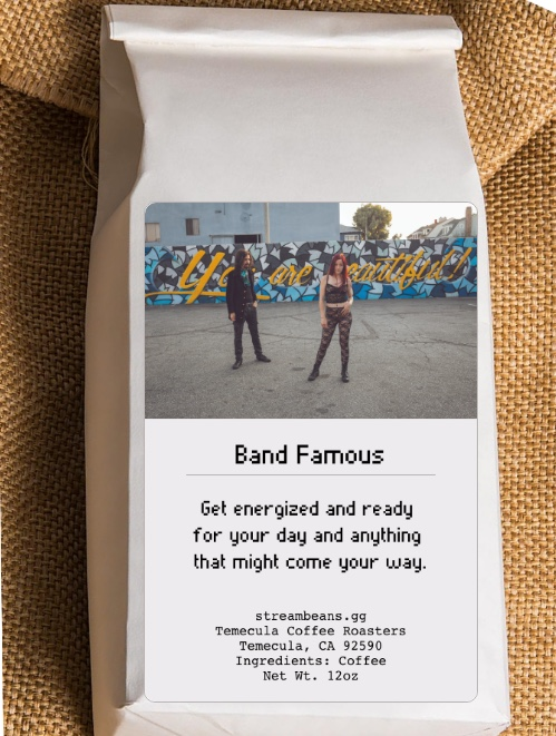 Drink The Band Famous Coffee to get you through your work days.