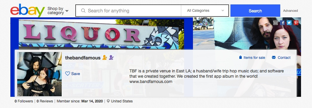 The Band Famous is on Ebay